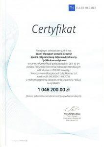 Certyfikat Euler Hermes