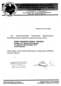 Certyfikat Zsmpdis